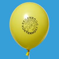 Schoollogo op een ballon