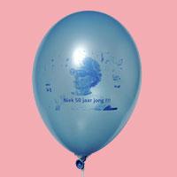 Foto gedrukt op een ballon