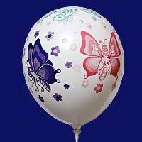 Rondom bedrukte ballon